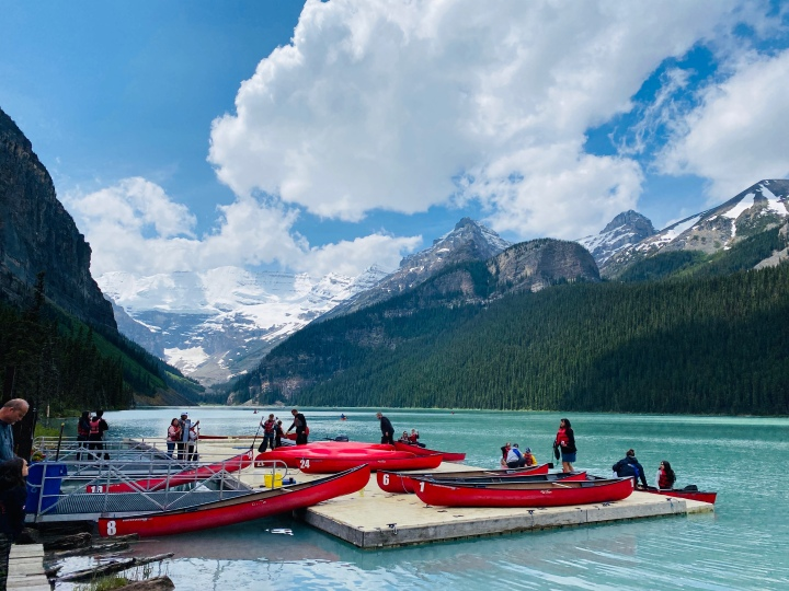 Visiting Lake Louise during a Pandemic